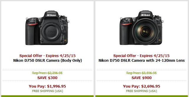 D750 savings